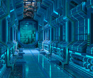 Sci-Fi corridor interior design Royalty Free Stock Images