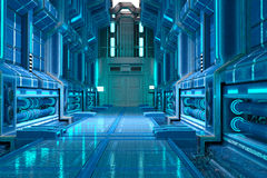 Sci-Fi corridor interior design Royalty Free Stock Photography