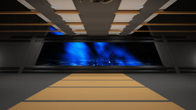 Sci-Fi corridor interior design Royalty Free Stock Image