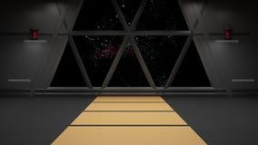 Sci-Fi corridor interior design Royalty Free Stock Photo