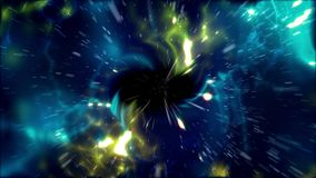 Abstract black space tunnel illustration Royalty Free Stock Image