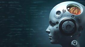 Sci fi de robot de technologie illustration de vecteur