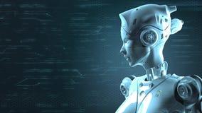 Sci fi de robot de technologie illustration stock