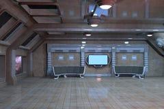 Sci-Fi deck room interior design Royalty Free Stock Photo
