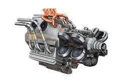 Sci-fi engine car Royalty Free Stock Photo