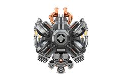 Sci-fi engine car, front view Stock Photography
