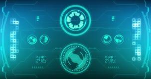 Sci fi es un interfaz futurista de encargo del visor para las c?maras de v?deo del foto y, una nave espacial de alta tecnolog?a H libre illustration