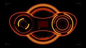 Sci fi est une interface futuriste faite sur commande de viseur pour la photo et les cam?ras vid?o, un vaisseau spatial de pointe illustration de vecteur