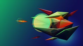 Sci-fi facet abstract background Royalty Free Stock Images