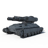 Sci fi future tank. On the white background stock images