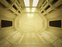 Sci fi futuristic corridor Royalty Free Stock Photo