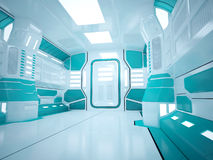 Sci fi futuristic corridor Royalty Free Stock Image