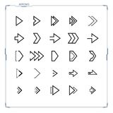 Sci-fi Futuristic design arrow icons set. Futuristic and sci-fi design concept arrow icons set for hud graphical user interface Stock Images