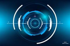 Sci-Fi Futuristic HUD Dashboard Display. Vitrual Reality Technology Screen. Sci-Fi Futuristic HUD Dashboard Display. Vitrual Reality Screen royalty free illustration