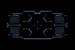 Sci fi futuristic interface. HUD user interface. Concept design gaming user interface high tech screen. Stock Photography