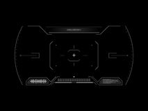 Sci fi futuristic interface viewfinder. HUD user interface. Concept user interface high tech screen spaceship. Stock Photo