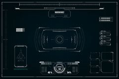 Sci fi futuristic user interface. Vector illustration vector illustration