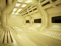 Sci fi futuristisk korridor royaltyfri foto