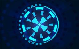Sci fi futurystyczny interfejs użytkownika HUD Fotografia Royalty Free