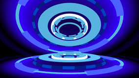 Sci-fi gizmo with glowing rings, 3d illustration. Computer-generated image on abstract theme Stock Images