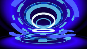 Sci-fi gizmo with glowing rings, 3d illustration Royalty Free Stock Images