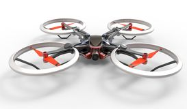 Sci-fi hi tech drone quadcopter with remote control Stock Image