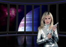 Sci fi inre ship Arkivbild