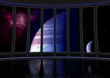 Sci fi interior ship Royalty Free Stock Photography