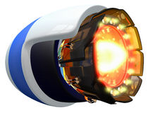 Sci Fi Jet Engine. Fictional jet engine, ignited and burning Stock Photography