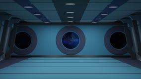 Sci fi korridor Arkivfoton