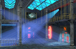Sci-Fi nightclub Royalty Free Stock Photography