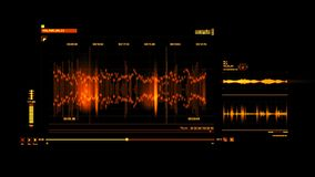 Orange HUD Voice Recording Interface Graphic Element