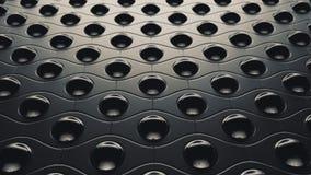 Sci fi piłek abstrakcjonistyczny tło, 3D ilustracja ilustracja wektor