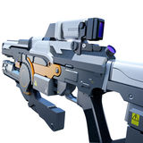 Sci-fi railgun Royalty Free Stock Photos
