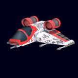 Sci FI-Raumschiff im Universum Stockbild
