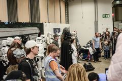 Sci fi regel i Göteborg gå omkring royaltyfri fotografi