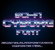 Sci-Fi retro font Royalty Free Stock Photos