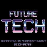 Sci-Fi retro font Royalty Free Stock Image