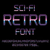 Sci-Fi retro font Stock Photo