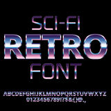 Sci-Fi retro font Royalty Free Stock Photos