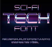 Sci-Fi retro font Royalty Free Stock Images