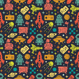 Sci-fi retro pattern Stock Photo