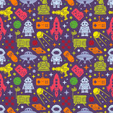 Sci-fi retro pattern Royalty Free Stock Photos