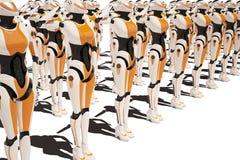 Sci fi robota dziewczyna royalty ilustracja