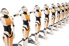 Sci FI-Robotermädchen Stockfoto