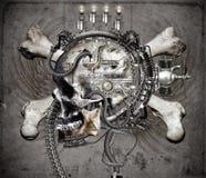 Sci Fi skulls and crossbones. A Science Fiction illustration of a skull and crossbones stock illustration