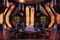 Sci-Fi space station interior Stock Photo