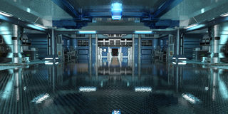 Sci-Fi space station interior Royalty Free Stock Photo