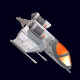 Sci fi spaceship in universe Stock Photography