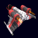 Sci fi spaceship in universe Stock Image